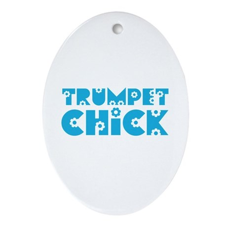 Trumpet Chick Oval Ornament