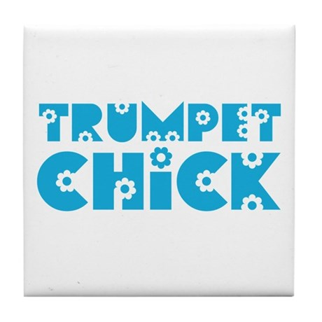Trumpet Chick Tile Coaster