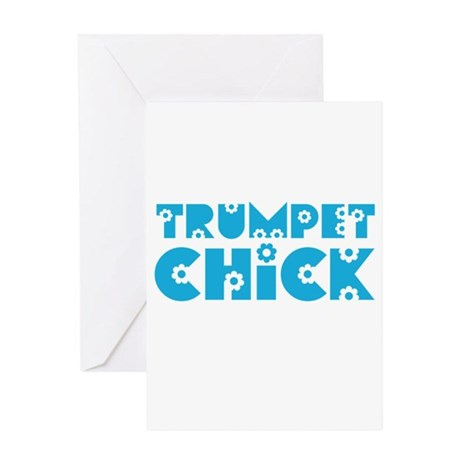 Trumpet Chick Greeting Card