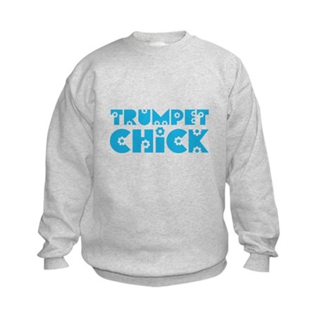 Trumpet Chick Kids Sweatshirt