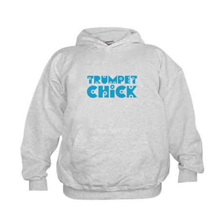 Trumpet Chick Kids Hoodie