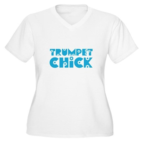 Trumpet Chick Women's Plus Size V-Neck T-Shirt
