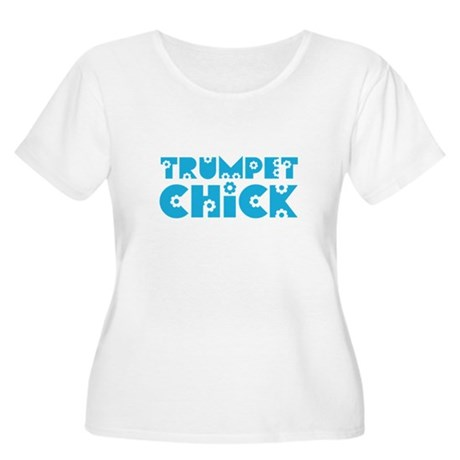 Trumpet Chick Women's Plus Size Scoop Neck T-Shirt
