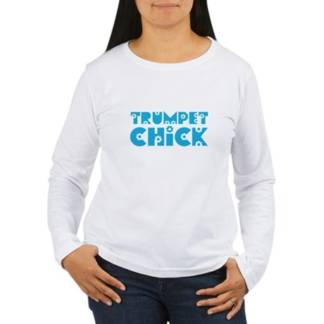 Trumpet Chick Women's Long Sleeve T-Shirt