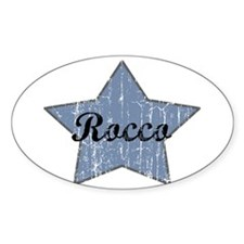 Rocco (blue star) Oval Decal