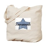 Savannah (blue star) Tote Bag
