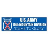 10th Mountain: Bumper Bumper Sticker
