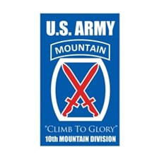 10th Mountain: Rectangle Decal
