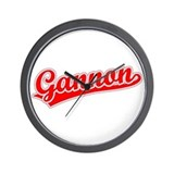 Retro Gannon (Red) Wall Clock