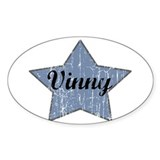 Vinny (blue star) Oval Decal