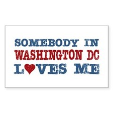 Somebody in Washington DC Loves Me Decal