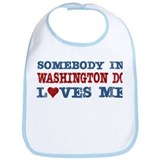 Somebody in Washington DC Loves Me Bib