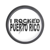 I Rocked Puerto Rico Wall Clock