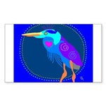 Great Blue Heron Rectangle Sticker