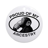 Proud of my Ancestry Chimp Ornament (Round)