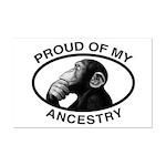 Proud of my Ancestry Chimp Mini Poster Print