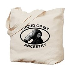 Proud of my Ancestry Chimp Tote Bag