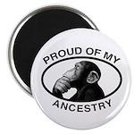 "Proud of my Ancestry Chimp 2.25"" Magnet (10 p"