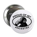 """Proud of my Ancestry Chimp 2.25"""" Button (100"""