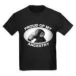 Proud of my Ancestry Chimp Kids Dark T-Shirt