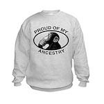 Proud of my Ancestry Chimp Kids Sweatshirt