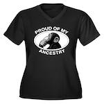 Proud of my Ancestry Chimp Women's Plus Size V-Nec