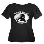 Proud of my Ancestry Chimp Women's Plus Size Scoop