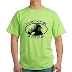 Proud of my Ancestry Chimp Green T-Shirt