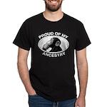 Proud of my Ancestry Chimp Dark T-Shirt