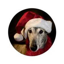 "Santa Greyhound 3.5"" Button"