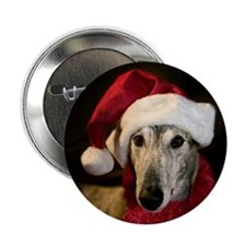 "Santa Greyhound 2.25"" Button"