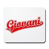 Retro Giovani (Red) Mousepad
