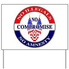 No Amnesty Yard Sign