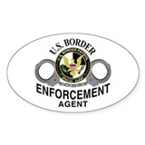 Border Patrol Agent Oval Decal