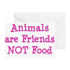 Animals are Friends Not Food Greeting Card