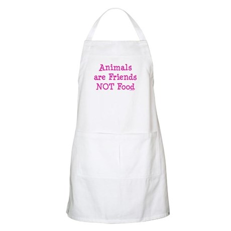 Animals are Friends Not Food Apron