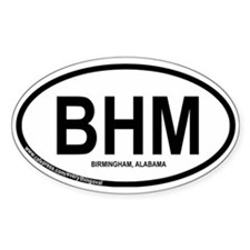 Birmingham Oval Sticker (50 pk)
