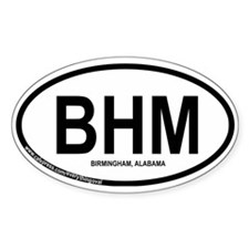 Birmingham Oval Sticker (10 pk)