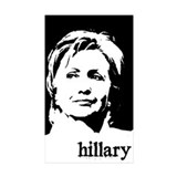 Hillary Clinton Rectangle Sticker 10 pk)
