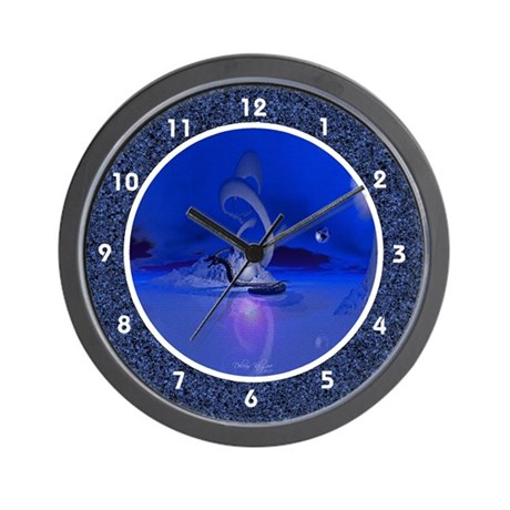 Dragon Serpent in Mythical Ice World Wall Clock