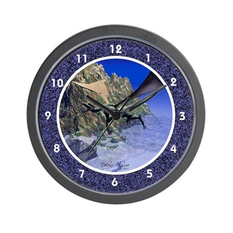 Mythical Dragon Flying Wall Clock