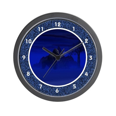 Night Gorilla Wall Clock