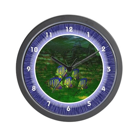 Sunfish Underwater Scene Wall Clock