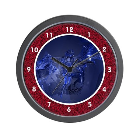 Transparent Glass Angel Wall Clock