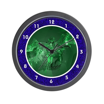 Transparent Glass Angel Wall Clock