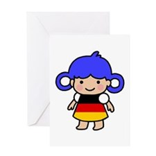 Germany Flag Girl Greeting Card
