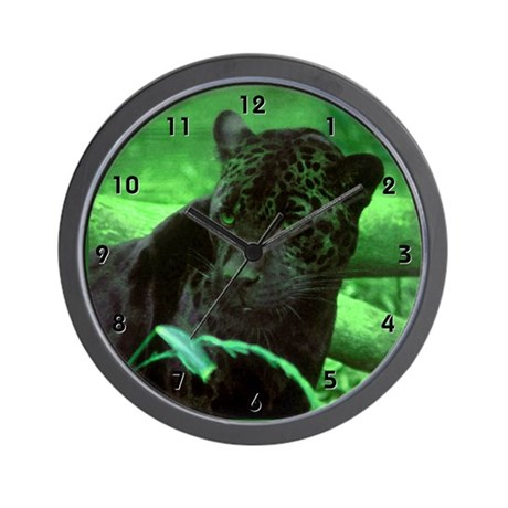Black Panterh Jaguar Clocks Wall Clock