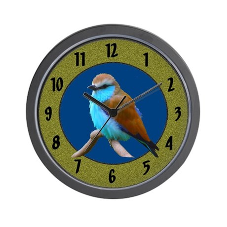 Bluebird Blue Bird Fowl Wall Clock
