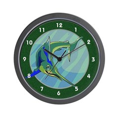 Swordfish Fishing Deep Sea Ocean Clocks Wall Clock