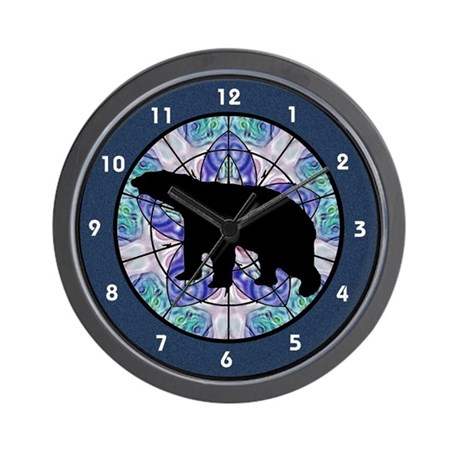 Black Bear Silhouette Wall Clock